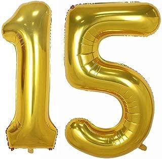 15 balloons gold