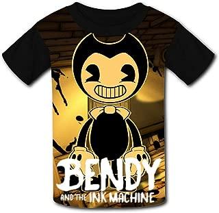 QIANBAIHUI Kids Youth Bendy 3D Printed Short Sleeve T Shirt Tee