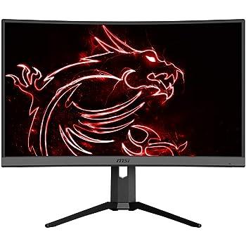 "MSI 27"" QHD (2560 x 1440) Non-glare HDR Ready 165Hz 1500R Curvature 1ms 16:9 HDMI/DP/USB AMD FreeSync Height Tilt Adjustment Curved Gaming Monitor (OPTIX MAG272CQR),Black"