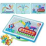 Colmanda Puzzle 3D Mosaico, 888 Pezzi Mosaico Unghie Giocattolo, Chiodini Colorati per Bambini, Gioco dei Mosaici per Regalo di Bambini, Bambini i Giocattoli in Anticipo Educativi (B)