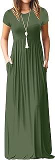 UbdehL - Vestido largo sin mangas y manga corta para mujer