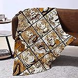 UOUO Anime Himiko Toga Collage Manta de franela suave de forro polar ligero manta para sofá cama, cama de 200 x 150 cm para niños (p)
