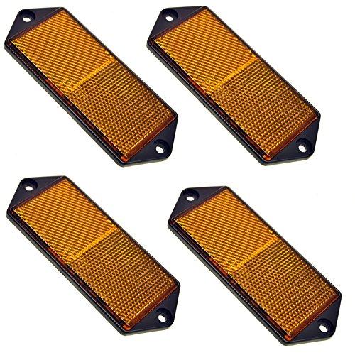 Grand réflecteur latéral rectangulaire orange Pack de 4 Clôture de remorque/Gate Poster TR067