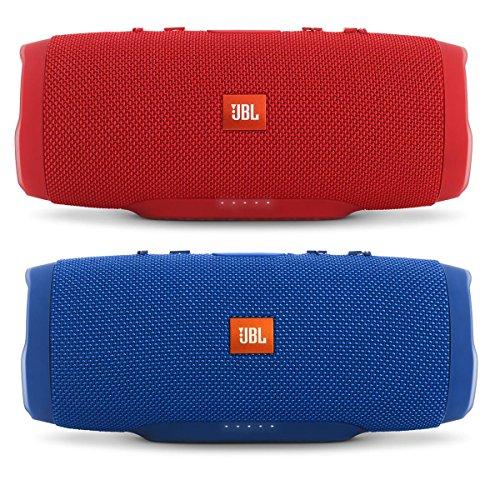 JBL Charge 3 Waterproof Portable Bluetooth Speaker - Pair (Blue/Red) -  CHRG3BLRD
