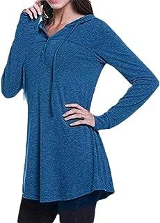 Womens Loose Hoodies V Neck Long Sleeve Sweatshirts Pullover Top