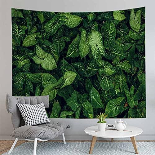 PPOU Foglia Stampa arazzo appeso a parete bohemien casa parete Camera da letto decorazione sfondo panno appeso coperta di stoffa A1 180x200cm