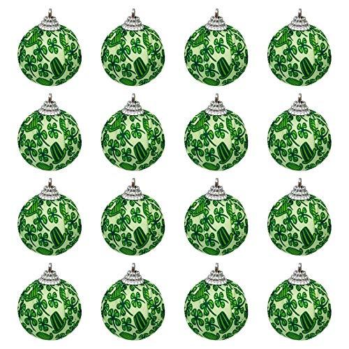 Moent Bola de tela para da festivo de San Patricio, trbol de cuatro hojas de trbol de trbol de primavera para decoracin de fiestas de ao nuevo (verde, 1 unidad)