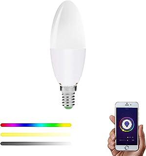 Bombilla Inteligente WiFi E14 Casquillo Fino LED RGBW compatible con Alexa, Google Home y Smart Life, Multicolor Regulable 5W – Smartfy