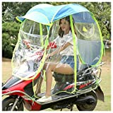 ZZZR Cubierta de sombrilla de Motocicleta eléctrica Universal, sombrilla de Scooter de Motor Completamente Cerrada sombrilla de Movilidad y Cubierta de Lluvia Impermeable