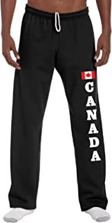 STUFF WITH ATTITUDE Canada Black Open Leg Sweatpants
