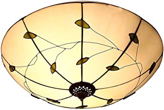 40cm Tiffany Style Ceiling Light,Stained Glass Shade Flush Mount Ceiling Lamp,European Retro Ceiling Lighting Fixtures for...
