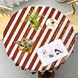 JKTOWN 4th of July Holiday Table Cloth Kitchen Dinning Decoration 39 Inch Abstract Diagonal Stripes...
