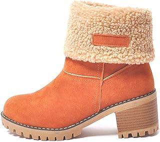530c026fb83 T-JULY Women Thick Bottom Platform Snow Boots Fashion Waterproof Ankle Boots  Winter Warm Fur