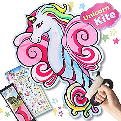 Amazon - 60% Off on Kite for Kids, Easy to Fly and Assemble, Unicorn Kite for Girls Boys
