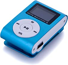 Dayan Cube Metal Clip Digital MP3 Player LCD Screen for 2/4/8/16GB TF Card Blue