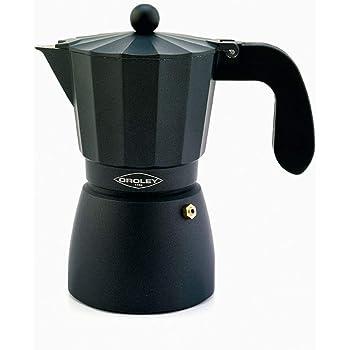 Oroley - Cafetera Italiana Ecofund | Base de Acero Inoxidable | 12 Tazas | Cafetera Inducción, Vitrocerámica, Fuego y Gas | Estilo Tradicional: Amazon.es: Hogar