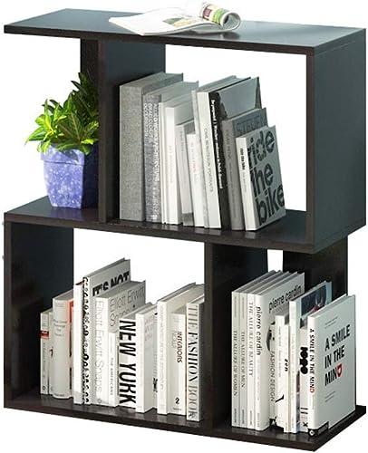 Bücherregal aus Holz Simply Modern 2-stufiges offenes Bücherregal im Schlafzimmer - Typ S - SchwarzRegalst er zur Aufbewahrung von Holzregalen