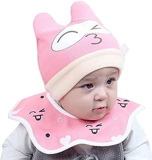 c4cd443127a DIGOOD Cotton Baby Boys Girls Cat Hat+Bib Head Scarf Toddler Saliva Set