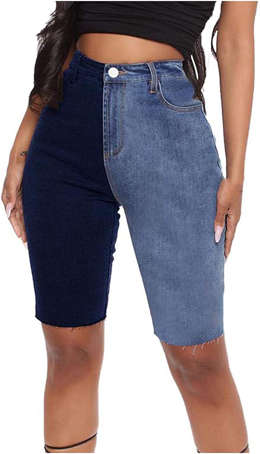 Sexyp-tops Summer Clothes,Women's Casual Denim Splicing Shorts Bottom PantsJeans Shorts for Ladies