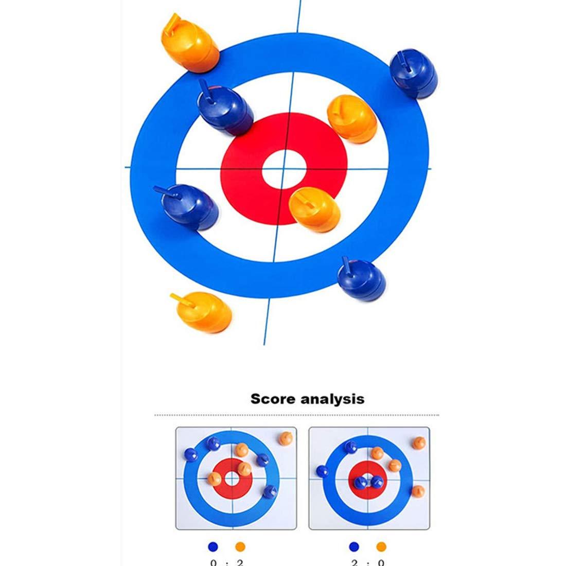 BYBYC Junta Curling Fun Family Games Juego de Mesa Compacto para Niños y Adultos tejo Pucks con 8 Rodillos Padre y el Hijo Juegos interactivos,Blanco: Amazon.es: Deportes y aire libre