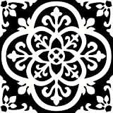 FloorPops FP2475 Gothic Peel & Stick Tiles Floor Decal, Black