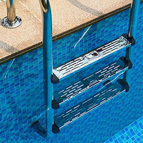 Duokon Escalera de Acero Inoxidable Escalera escalonada Taburete Escaleras pequeñas Antideslizante Acanalado Pedal de la Piscina Accesorio de reemplazo