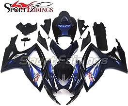 Sportfairings Motorbike Fairing Kit For Suzuki GSX-R750 GSX-R600 GSXR 600 750 Year 2006 2007 K6 Bodywork Injection ABS Plastic Dark Blue Black