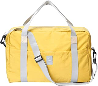 P.travel Travel Lightweight Waterproof Foldable Storage, Carry Luggage Duffle Tote Bag PT-1722 (Yellow)