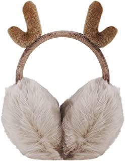 Green Soccer Football Sports Winter Earmuffs Ear Warmers Faux Fur Foldable Plush Outdoor Gift