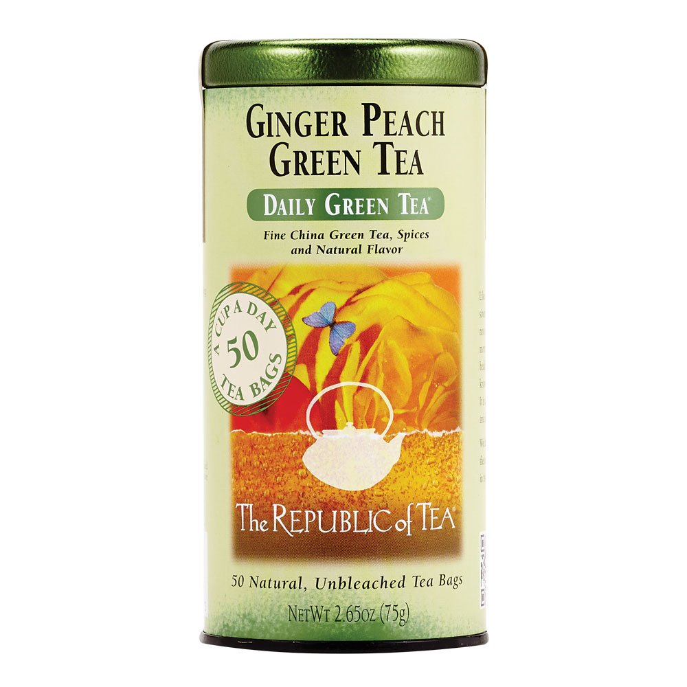 Tampa Mall The Republic of Tea Selling and selling Ginger 50-Cou Peach Caffeinated Green