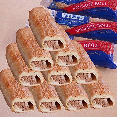 ミートガイ ソーセージロール 10個セット (ソーセージミート包み) (110g×10pc) (直輸入品) ビリーズパイ Vili's Original Australian Sausage Roll Value Set
