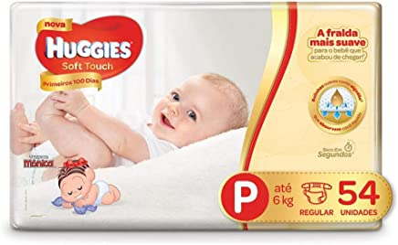 Fralda Huggies Soft Touch Mega P, 54 Fraldas
