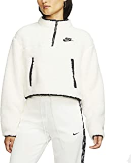Nike Womens NSW 1/4-Zip Sherpa Fleece Crop Top Cj6282-110