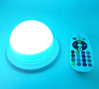 RGB LED Under Table Light Multi Colors Changing Battery Powered Wireless Remote Control Wedding Decoration Lamp for Outdoor Camping Indoor Party Event Birthday Banquet Receptions Illumination