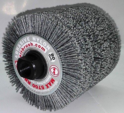Bürstenrolle aus Nylon GR.80Ø 100x 100x 19mm für Satiniermaschine/rusticatrice Holz + Baum M14Für Winkelschleifer