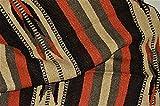 Galaxy Reborn Mexican Blanket Handwoven XLarge Tribal Arrow Falsa in Burnt Umbre Heavyweight Premium Blanket Mexican Yoga Bohemian Throw Indian Rug Serape