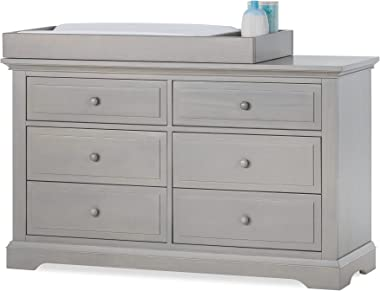 Child Craft Legacy Jordyn Changing Table Topper for Double Dresser, Lunar Gray