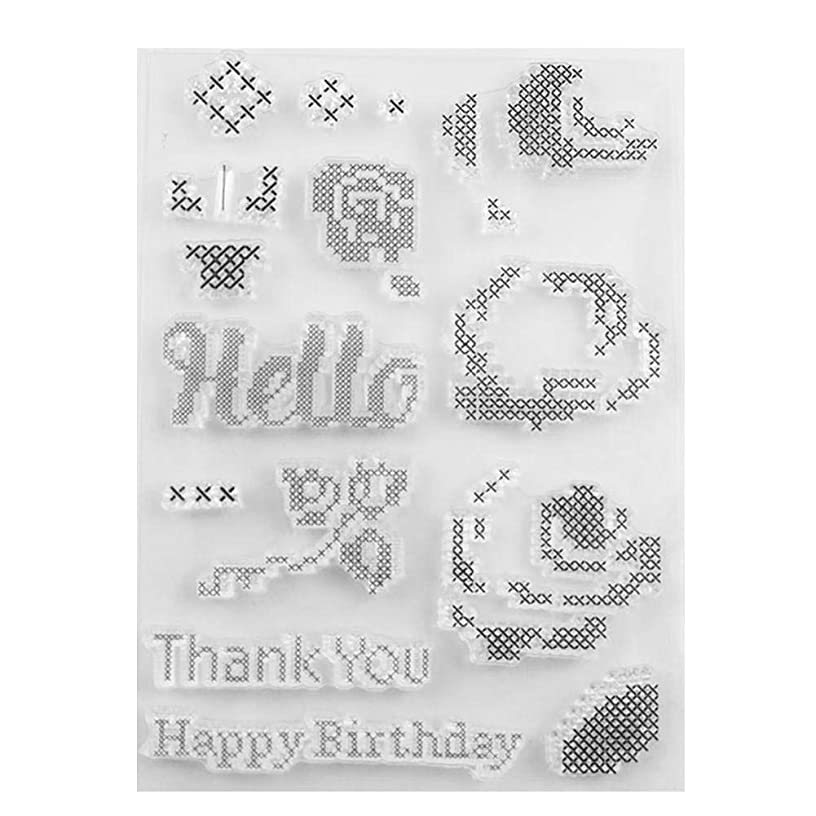 Wax Seal Stamp Kit, Transparent Stamp Kids Toys Flowers Letter Seal Paper Card Making (T1514)