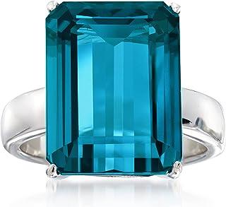 Ross-Simons 12.00 Carat London Blue Topaz Ring in Sterling Silver