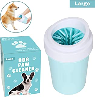 bealy Dog Paw Cleaner for Dogs Large Dog Foot Washer Muddy Paws Cleaner Portable Dog Paw Washer with Silicone Washers Nice Packing