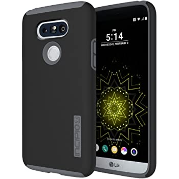 Incipio Cell Phone Case for LG G5 - Retail Packaging - Black/Charcoal