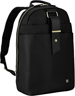 "Wenger 604805 Alexa 16"" Women's Laptop Backpack, Padded Laptop Compartment with Floral Desgin Accents in Black {12 litres}"