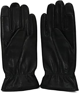 Tommy Hilfiger Metal Plate Leather Gloves Guantes para Hombre