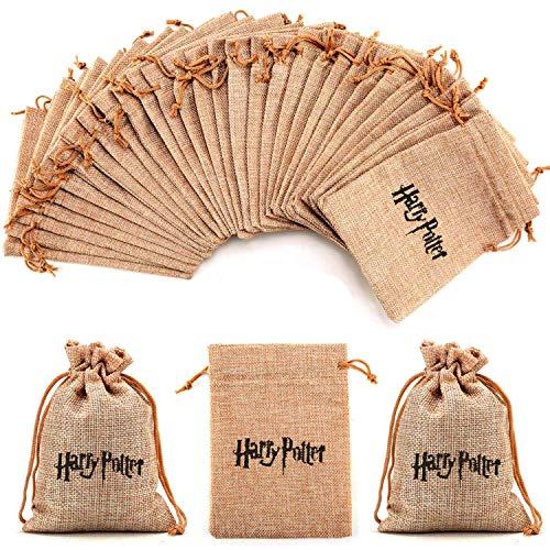 OMzgxGOD - 10pcs Harry Potter Saco de Regalo ,Yute Bolsas de Arpillera...