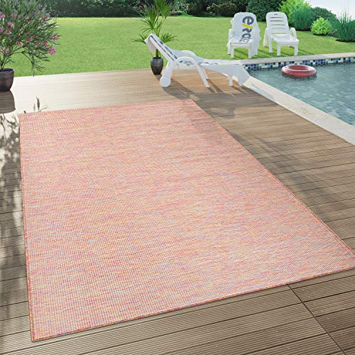 Paco Home In- & Outdoor-Teppich Für Wohnzimmer, Balkon, Terrasse, Flachgewebe In Bunt, Grösse:140x200 cm