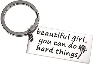 Beautiful Girl You Can Do Hard Things Inspirational Keychain Self Esteem Daughter Gift Graduation Gift Do Hard Things Gifts for Her Motivational Girls Gift
