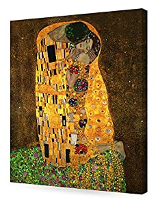 DECORARTS - The Kiss, Gustav Klimt Art Reproduction. Giclee Canvas Prints Wall Art for Home Decor 24x20 by Decor Arts International Corp