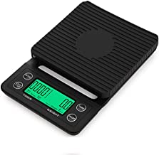 Digital Kitchen Scales, Electronic Smart Scales Food Cooking Scales with LCD Display and Tare Function and Timer Capacity: 5kg / 0.1g,Black