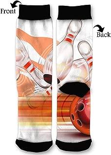 Women's Men's Fun Novelty Crazy Crew Socks Bowling Ball Transparent Shining Dress Socks
