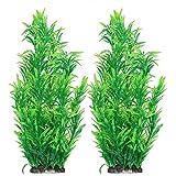 DaMohony Plantas de agua artificiales para decoración de acuario para peces, paisaje de bola verde